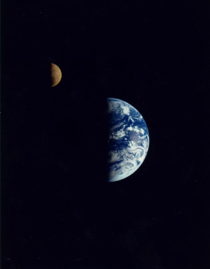 Earth and the Moon, 240 pixels
